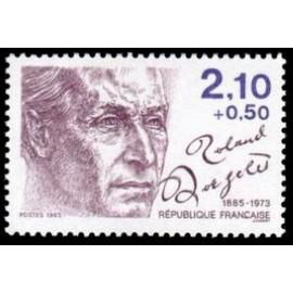 France Yvert Num 2359 ** Roland Dorgeles  1985