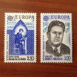 France Yvert Num 2366-2367 ** Europa   1985