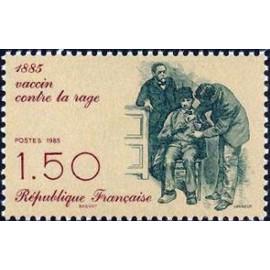 France Yvert Num 2371 ** Vaccin Rage  1985
