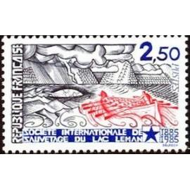 France Yvert Num 2373 ** Lac Leman   1985