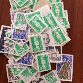Sous Faciale100 timbres à 2,40francssoit 36,59 euro