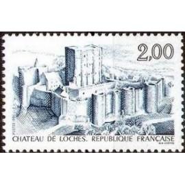 France Yvert Num 2402 ** Château de Loches  1986
