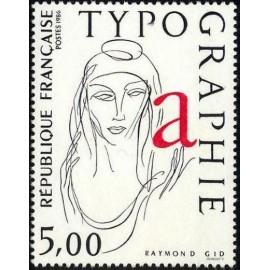 France Yvert Num 2407 ** Typographie  1986