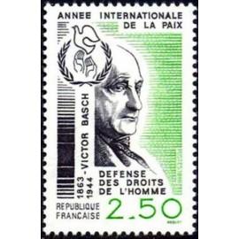 France Yvert Num 2415 ** Victor Basch  1986