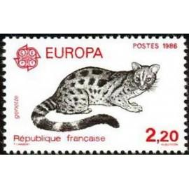 France Yvert Num 2416 ** Europa Genette  1986