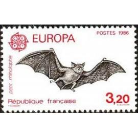 France Yvert Num 2417 ** Europa Chauve Souri  1986