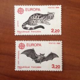 France Yvert Num 2416-2417 ** Europa  1986
