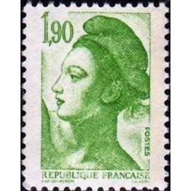 France Yvert Num 2424 ** Liberté 1f90 1986