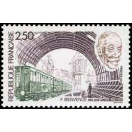 France Yvert Num 2452 ** Metro Paris  1987
