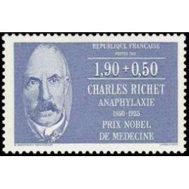 France Yvert Num 2454 ** Charles Richet  1987