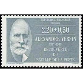 France Yvert Num 2457 ** Alexandre Yersin  1987