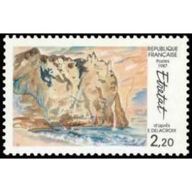 France Yvert Num 2463 ** Etretat  1987