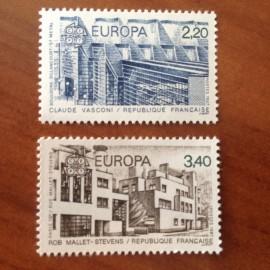 France Yvert Num 2471-2472 ** Europa  1987