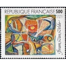 France Yvert Num 2473 ** tableau Van Velde  1987