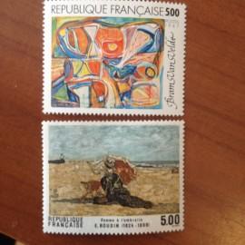 France Yvert Num 2473-2474 ** tableau Boudin  1987