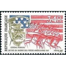 France Yvert Num 2477 ** Guerre USA  1987