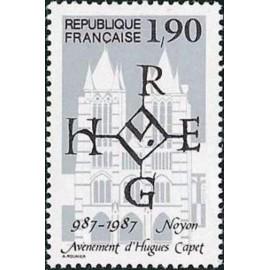 France Yvert Num 2478 ** Hugues Capet  1987