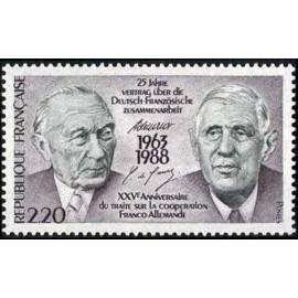 France Yvert Num 2501 ** De Gaulle  1988