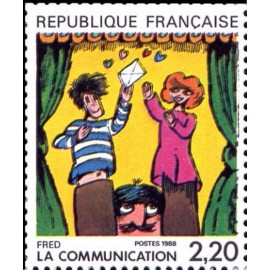 France Yvert Num 2506 ** BD  Fred 1988