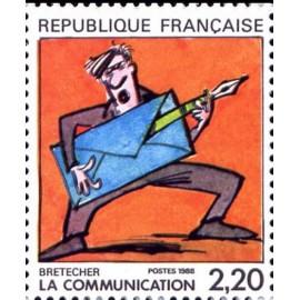 France Yvert Num 2509 ** BD  Bretecher 1988