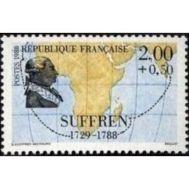 France Yvert Num 2518 ** voiliers bateau Suffren 1988