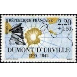 France Yvert Num 2522 ** voiliers bateau Urville 1988