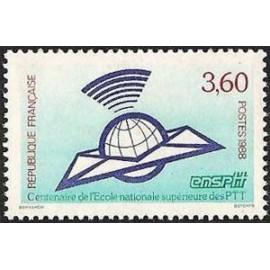 France Yvert Num 2527 ** PTT Poste  1988