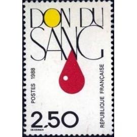 France Yvert Num 2528 ** Don du sang Medecine  1988
