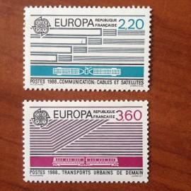 France Yvert Num 2531-2532 ** Europa   1988
