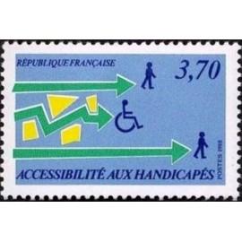 France Yvert Num 2536 ** handicap  1988