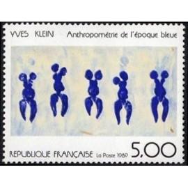 France Yvert Num 2561 ** Tableau Yves Klein  1989