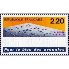 France Yvert Num 2562 ** Aveugle Braille  1989