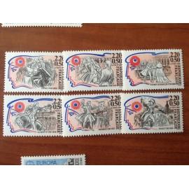 France Yvert Num 2564-2569 ** Revolution  1989