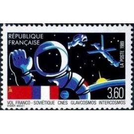 France Yvert Num 2571 ** cnes Cosmos  1989
