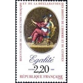 France Yvert Num 2574 ** Revolution Egalite 1989