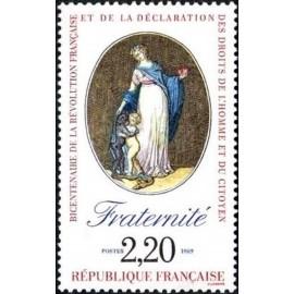 France Yvert Num 2575 ** Revolution Fraternite 1989
