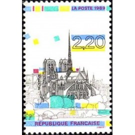 France Yvert Num 2582 ** Notre Dame  1989