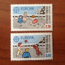 France Yvert Num 2584-2585 ** Europa  1989