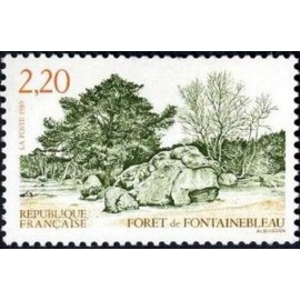 France Yvert Num 2586 ** Fontainebleau foret  1989