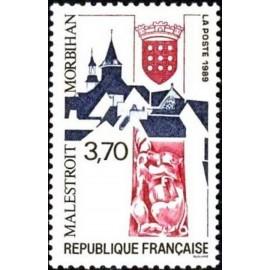 France Yvert Num 2588 ** Malestroit  1989
