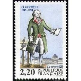 France Yvert Num 2592 ** Revolution Condorcet  1989