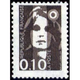 France Yvert Num 2617 ** 0,10 noir Marianne de Briat 1990