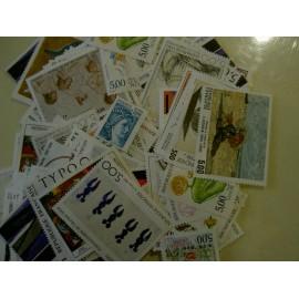Sous Faciale100 timbres à 5,00francssoit 76,22 euro