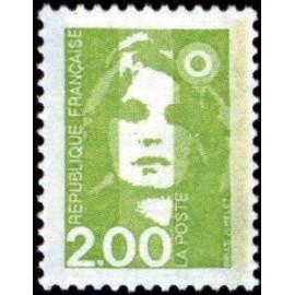 France Yvert Num 2621 ** 2 f Marianne de Briat 1990