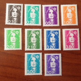 France Yvert Num 2617-2626 **  Marianne de Briat 1990