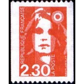 France Yvert Num 2628 ** 2f30 rouge Marianne de Briat 1990