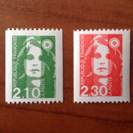 France Yvert Num 2627-2628 **  Marianne de Briat 1990