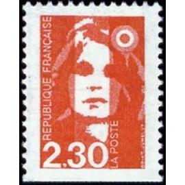 France Yvert Num 2629 ** 2f30 dentele 3 cotes Marianne de Briat 1990