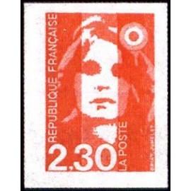 France Yvert Num 2630 ** 2f30 autocollants Marianne de Briat 1990