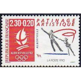 France Yvert Num 2633 ** JO 1992 Patinage 1990